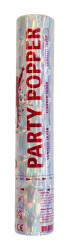 Party Popper confetti zilver - 28cm