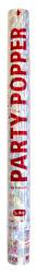 Party Popper confetti zilver - 57cm