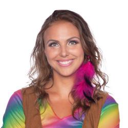 Hippie hair accessory Magenta