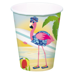 Bekers Flamingo 350ml / 8 stuks