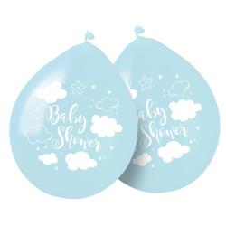Ballonnen Baby Shower jongen / 8 stuks