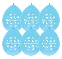 ballonnen 6 st babyshower jongen