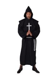 Herenkostuum Pater Luxe - zwart