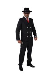 Herenkostuum Gangster - zwart