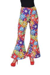 Hippie Broek voor Dames Bloemen - multi kleur