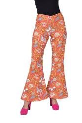 Hippie Broek voor Dames Flower Power - oranje