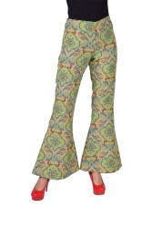 Hippie Broek voor Dames Jaren 70 - groen