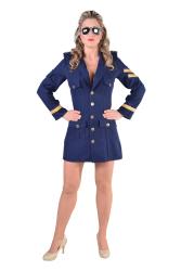 Sexy Pilotenkostuum voor Dames - blauw