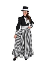Kostuum Victoriaanse Dame - zwart/wit