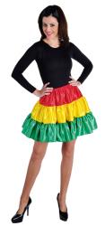 Petticoat Rio Kort - rood/geel/groen