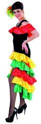 Braziliaanse Jurk Rio voor Dames - rood/geel/groen