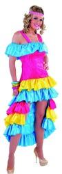 Braziliaanse Jurk Rio voor Dames - turquoise/roze/geel