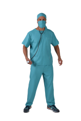 Herenkostuum Chirurg - blauw