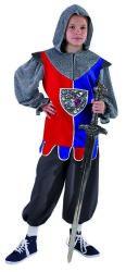 Ridderkostuum voor Kinderen - rood/blauw/zilver