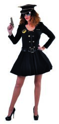 Sexy Politie Kostuum voor Dames - zwart