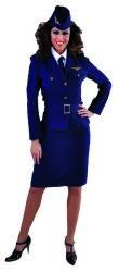 Stewardess Raf 1940 Kostuum voor Dames
