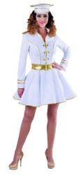 Sexy Kapitein Kostuum voor Dames - wit/goud