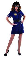 Sexy Politie Kostuum voor Dames - marine blauw