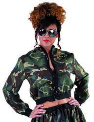 Kort Leger Jasje voor Dames - camouflage