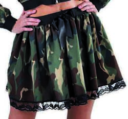 Dames Rok Militait Kort - camouflage