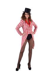 Slipjas voor Dames Brabants Bont - rood/wit