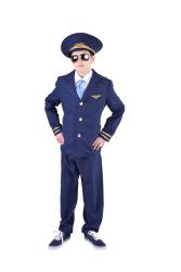Piloten Kostuum voor Kinderen - marine blauw
