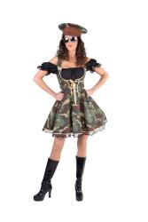 Damesjurk Militair - camouflage/zwart