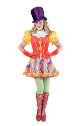 Regenboog Clown Dameskostuum