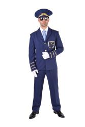 Pilotenkostuum voor Heren Budget - donkerblauw