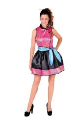Chinees Jurkje voor Dames - roze/zwart