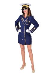 Dameskostuum Kapitein - marineblauw