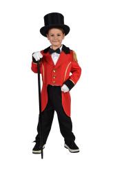 Kinderkostuum Circus Directeur - rood