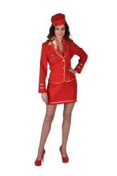 Dameskostuum Stewardess Bel Air - rood