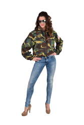 Damesjasje met Legerprint - camouflage