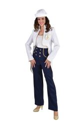 Dameskostuum Matroos - wit/marineblauw