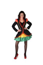 Carnavalsjas voor Dames Rio - zwart/rood/groen