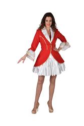 Carnavalsjas met Pailletten - kant - rood