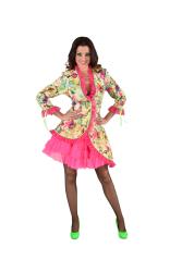 Carnavalsjas voor Dames Bloesem - geel/roze
