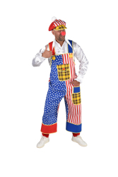 Tuinbroek Clown USA voor Heren - incl. Pet