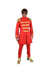 Sgt. Pepper Beatles Kostuum voor Heren - rood
