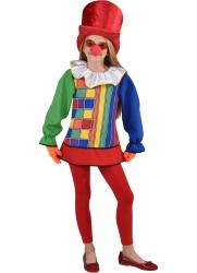 Lange Clown Blouse voor Kinderen - multi kleur