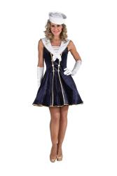 Luxe Matroos Kostuum voor Dames - marine