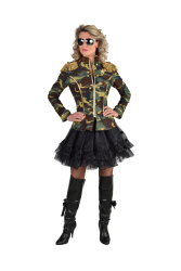 Carnavalsjas voor Dames - camouflage