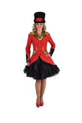 Carnavalsjas voor Dames Circusdirecteur - brocaat - rood
