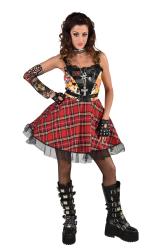 Damesjurk Punk - jaren 70/80 - zwart/rood