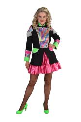 Carnavalsjas voor Dames - regenboog golf - zwart