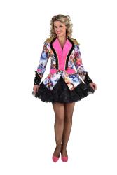 Carnavalsjas voor Dames Vlinder - roze/zwart