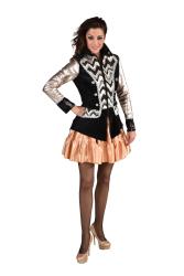Carnavalsjas voor Dames - rosé goud/zilver/zwart