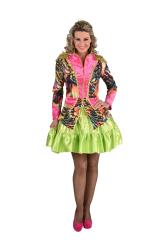 Carnavalsjas voor Dames - gekleurd tijgerdesign - roze