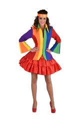 Carnavalsjas voor Dames Regenboog Strepen